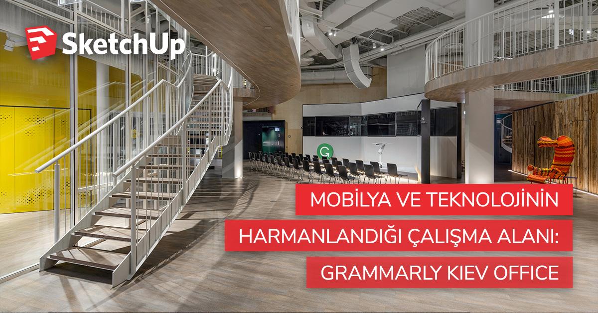 Mobilya ve Teknolojinin Harmanlandığı Çalışma Alanı: Grammarly Kiev Office 9