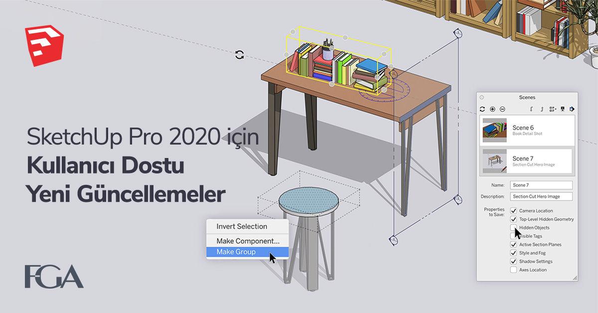 SketchUp Pro 2020 için Kullanıcı Dostu Yeni Güncellemeler 16