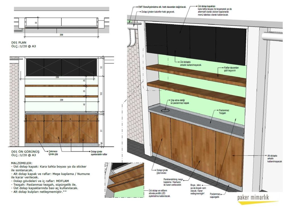 Paker Mimarlık - SketchUp ile İç Mimari Projeler Üzerine 11