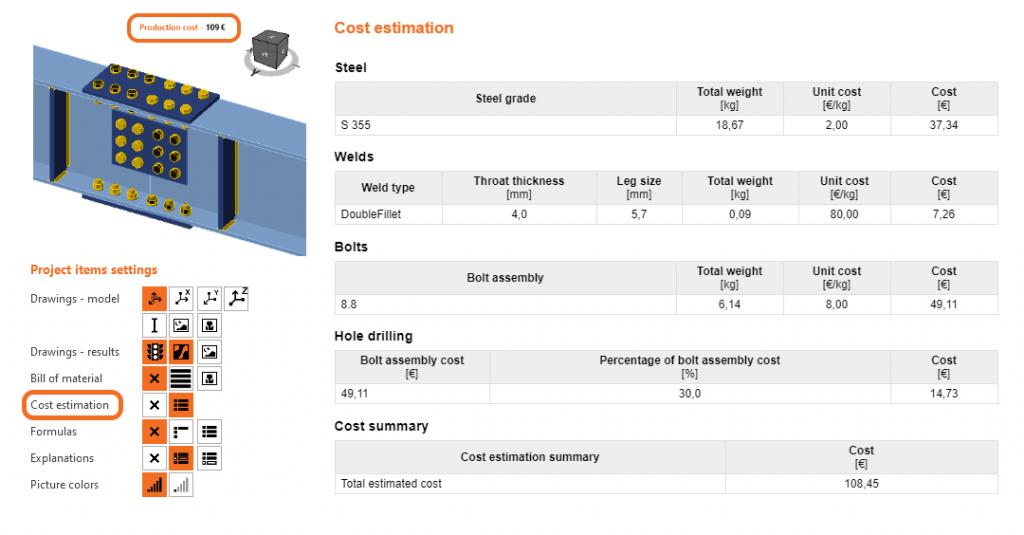 Report (Cost estimation)