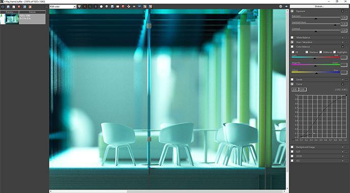 vray for sketchup framebuffer