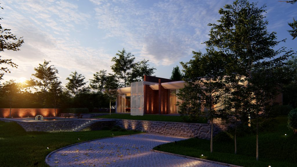 2021 Mimarlar Icin Lumion 101 Blog Villa in Casale 3 Ext Evening