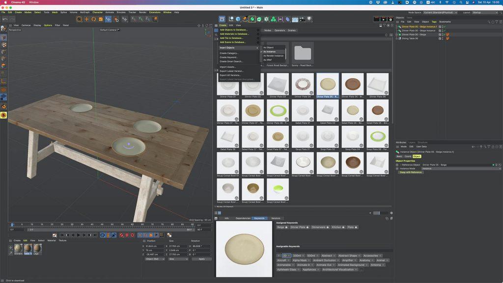Maxon Cinema4D S24 Instances Objects References